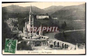 Old Postcard Lourdes view plangeante