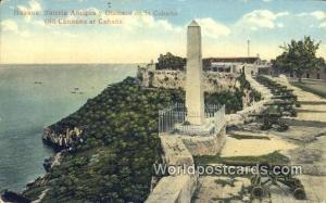 Cuba, Republica De Cuba Habana Bateria Antigua y Obelisco en la Caban