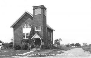 New Auburn Wisconsin United Brethren Church Real Photo Antique Postcard K11850