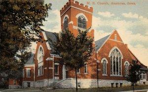 Anamosa Iowa~United Methodist Episcopal Church~Battlement Tower~In Color~c1910