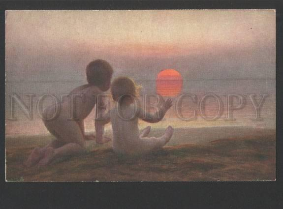 119325 Baby KIDS & SUNSET by BRASEN vintage color PC
