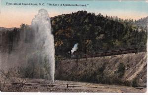 Fountain at ROUND KNOB, North Carolina ,PU-1914;  On Line of Southern RR