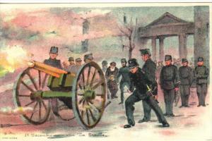 Cannon firing , Geneve , Switzerland , 00-10s