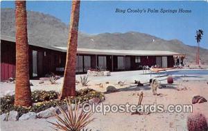 Palm Springs, CA, USA Bing Crosby's Palm Springs Home