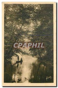 Old Postcard Limousin Correze Beaulieu Around one arm of the Dordogne