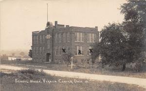 E19/ Vernon Center Richland County Ohio c1910 Photo RPPC Postcard School House