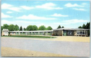Quitman, Mississippi Postcard ANDONNA MOTEL Route 45 Roadside KROPP Linen c1940s