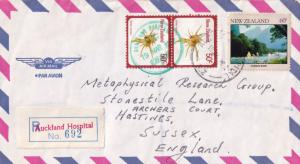 Auckland Hospital New Zealand 1980s Frank Postmark Envelope