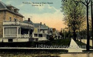 Residence Section Main Street Oneida NY 1912