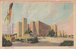 Varied Industries, Electrical And Communications Building At Texas Centennial...