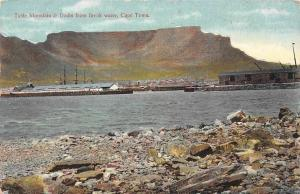 South Africa Cape Town, Table Mountain & Docks from Break water