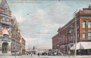 Canada Windsor Street Scene Lokking Toward Ferry Landing 1907