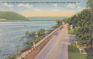 Harrisburg Williams Penn Highway And Susquehanna River Above Rockville Bridge...