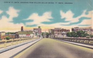 FORT SMITH, Arkansas, PU-1952; View from Million Dollar Bridge