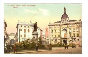 Milano , ITALY , PU-1906   Piazza Cordusio e Monumento a Parini