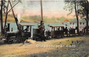 Verona Lake, New Jersey, NJ, USA Postcard Steam Railroad 1907