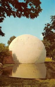 Dayton OH~Closeup~Planetarium Reflected in Pond @ Natural History Museum~1960s