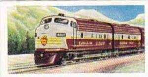 Mornings Foods Trade Card World Locomotives No 13 Canadian Pacific Locomotive