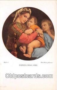 Religion Postcard  Madonna Della Sedia