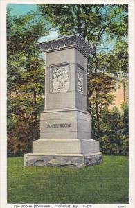 The Boone Monument, Frankfort, Kentucky, 30-40s