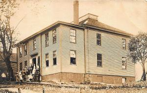 Wiscasset ME High School Real Photo Postcard