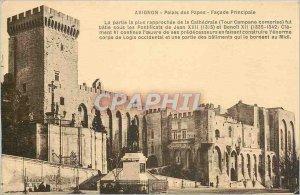 Old Postcard Avignon - Palace of the Popes Fa�ade Main