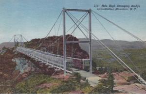 North Carolina Grandfather Mountain Mile High Swinging Bridge Curteich