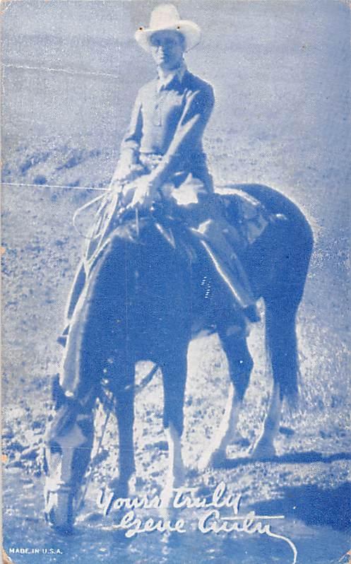 Gene Autry Western Actor Mutoscope Unused