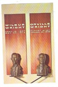 Busts of Orville & Wilbur Wright , Air Force Museum , Ohio , 40-60s