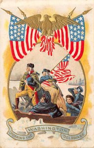 Washington Crossing the Delaware River Political Writing on Back