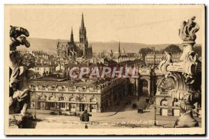 Old Postcard Nancy La Coquette La Place Stanislas From I & # 39Hotel View Of ...