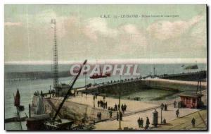 Old Postcard Le Havre breezes blades and outer harbor