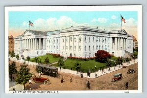 US Patent Office, Bird's-Eye Street View, Vintage Washington DC Postcard
