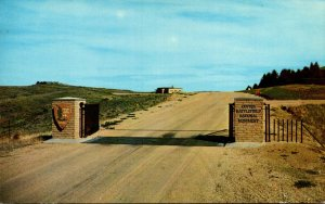 Montana Entrance To Custer Battlefield National Monument