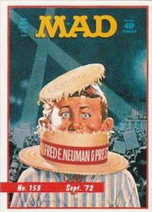 Lime Rock Trade Card Mad Magazine Cover Issue No 153 Sept 1972