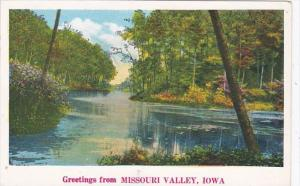 Iowa Greetings From Missouri Valley