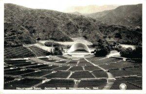 USA Hollywood Bowl Seating 20.000 Hollywood California RPPC 03.03
