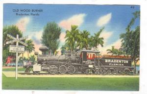 Old Wood Burner Train, Bradenton, Florida, PU-1960