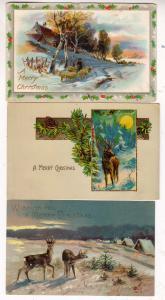 3 - Xmas Cards, Deer & Sheep