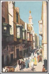 Egypt Cairo Street Postcard