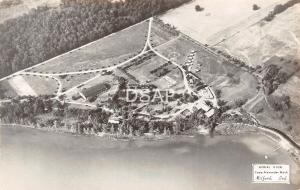 Indiana IN Postcard Real Photo RPPC c1940s MILFORD Camp Alexander Mack Birdseye