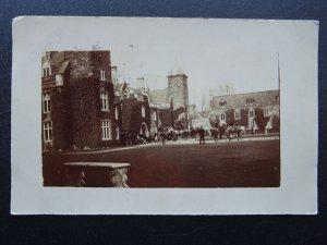Northampton MAIDWELL HALL shows Meeting on Horse Back HUNTING? c1905 RP Postcard