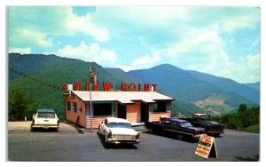 1950s/60s Tomahawk Viewpoint Restaurant, Socco Mountain, NC Postcard *5E5