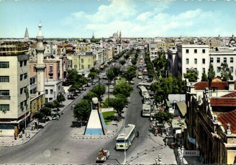 syria, DAMASCUS DAMAS, Victory Street, Car Bus (1970s)