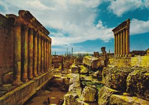 Lebanon General View Of Ruins Of Baalbeck