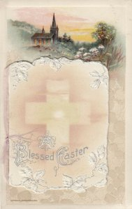 EASTER, 1900-10s; Blessed Easter Booklet Postcard, AS; WINCH