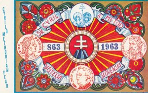SLOVAKIA , 1963 ; 1100th Anniversary of arrival of Sts. Cyril & Methodius
