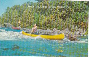 Wisconsin Greetings From Bruce Canoeing The Rapids