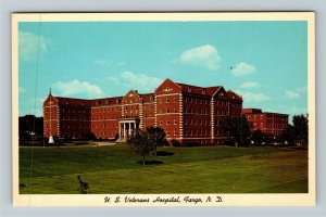 Fargo ND- North Dakota, US Veterans Hospital, Panoramic View, Chrome Postcard