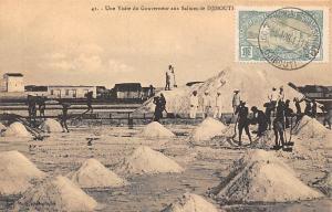 Djibouti Une Visite du Gouverneur aux Salines 1913